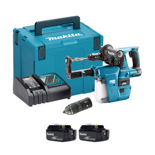 Makita DHR243V 18v SDS+ Brushless Hammer Drill With Extractor (All Versions)