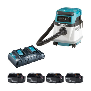Makita DVC151LP Twin 18v L Class Dust Extractor (All 110v Versions)