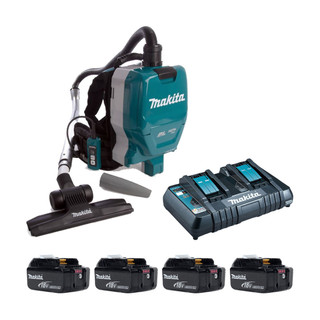 Makita DVC261X11P Twin 18v Brushless Backpack Vacuum Cleaner (All Versions)
