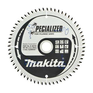 Makita B-56720 TCT Plunge Saw Blade - 165x20x60T (MDF, Laminate, Hi-ATB)