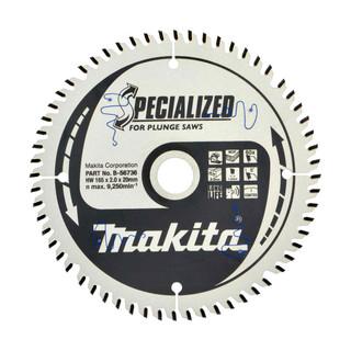 Makita B-56736 TCT Plunge Saw Blade - 165x20x60T (MDF, Laminate, TCG)