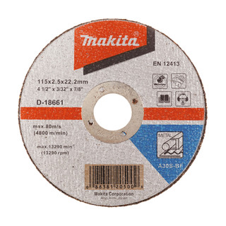 Makita D-18661 Cut Off Wheel For Metal - A30S (115mm)