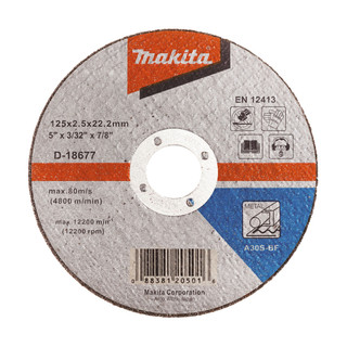Makita D-18677 Cut Off Wheel For Metal - A30S (125mm)