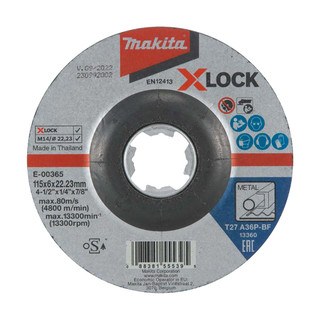 Makita E-00365 X-LOCK 115mm Grinding Disc A36P