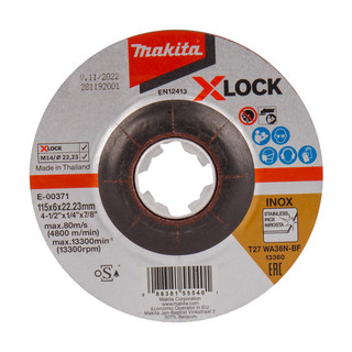 Makita E-00371 X-LOCK 115mm Grinding Disc WA36N