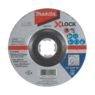 Makita E-00393 X-LOCK 125mm Grinding Disc A36P
