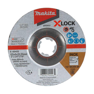 Makita E-00402 X-LOCK 125mm Grinding Disc WA36N