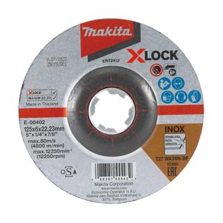 Makita E-00402 X-LOCK 125mm Grinding Disc WA36N