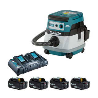 Makita DVC865L Twin 18v Brushless L Class Dust Extractor (All Versions)