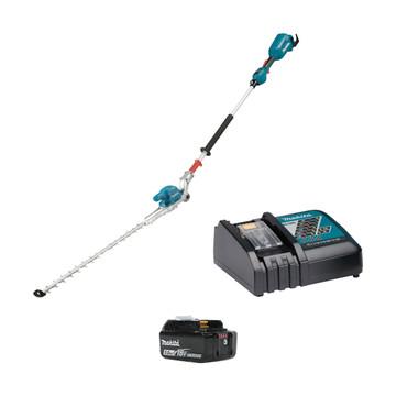 Makita DUN500WRT-1 18v Brushless Articulating Pole Hedge Trimmer (1x5Ah)