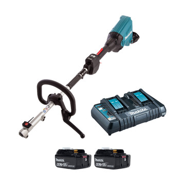 Makita DUX60PG-2 Twin 18v Brushless Split Shaft Power Unit (2x6Ah)