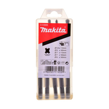 Makita D-03888 SDS+ Drill Bit Set (5 Piece)