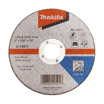 Makita D-18677 Cut Off Wheel For Metal - A30S (125mm)