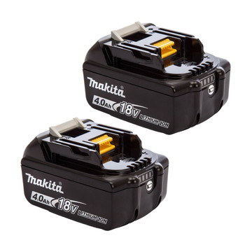 Makita BL1840B 18v 4Ah Battery Twin Pack (2x4Ah)