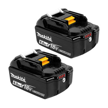 Makita BL1860B 18v 6Ah Battery Twin Pack (2x6Ah)
