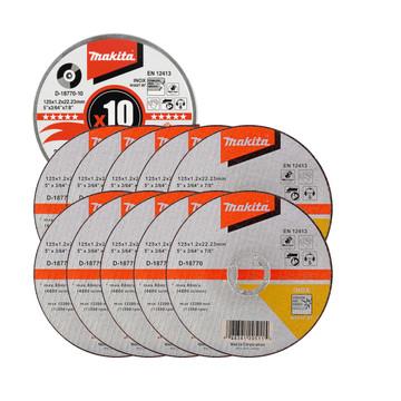Makita D-18770-10 125mm Thin Metal Cutting Discs (10 pack)