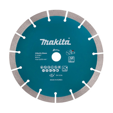 Makita E-02967 230 x 22.23mm Segmented Diamond Wheel (DCE090)