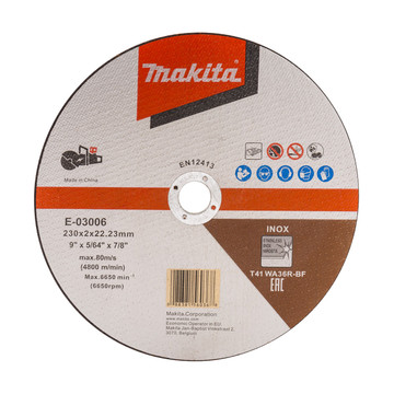 Makita E-03006 230mm Metal Cut Off Wheel (DCE090)