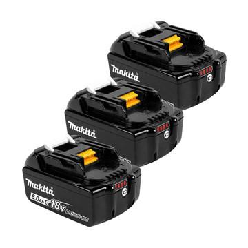 Makita BL1860B 18v 6Ah Battery Triple Pack (3x6Ah)