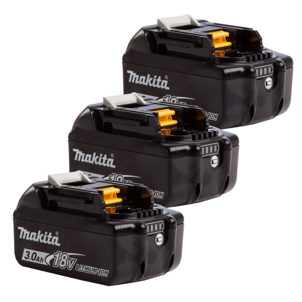 Makita BL1830B 18v 3Ah Battery Triple Pack (3x3Ah)