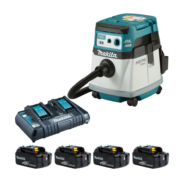 Makita DVC157L Twin 18v Brushless L Class Dust Extractor (All Versions)