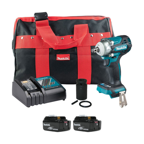 Makita DTW300X 18v Brushless Scaffolders Impact Wrench Kit (All Versions)