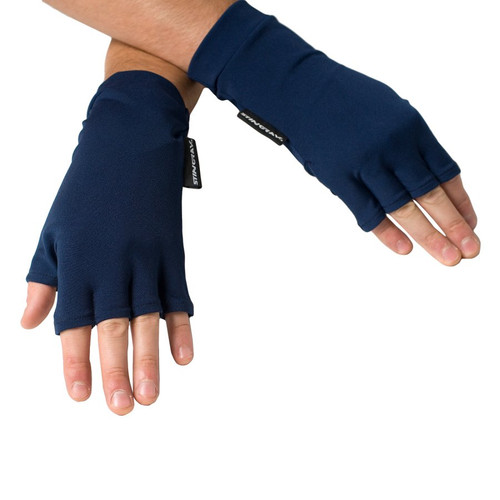 SUN PROTECTIVE FINGERLESS DRIVING GLOVES NAVY