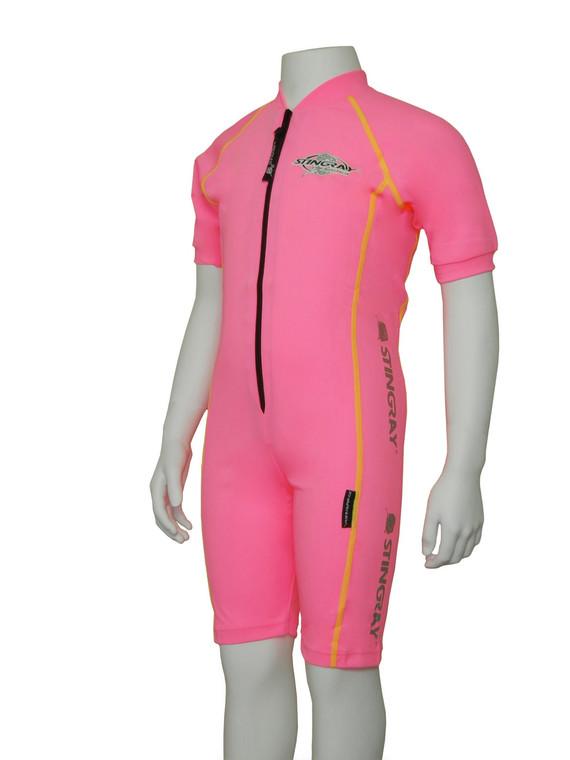 Pink/Yellow Flatlock Stitch