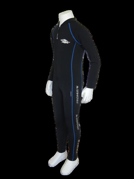 Black/Ocean Blue Flatlock Stitch