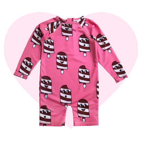 Rash Guard - Ice Cream-Pink