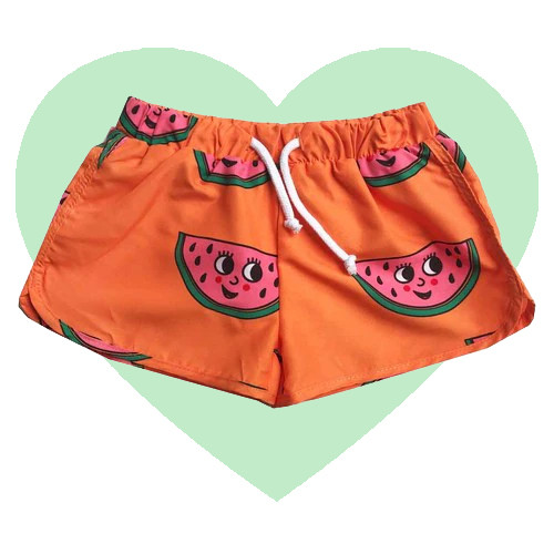 Swim Trunks - Watermelon-Orange