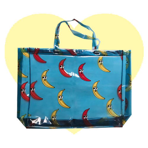 Beach Bag - Banana-Blue