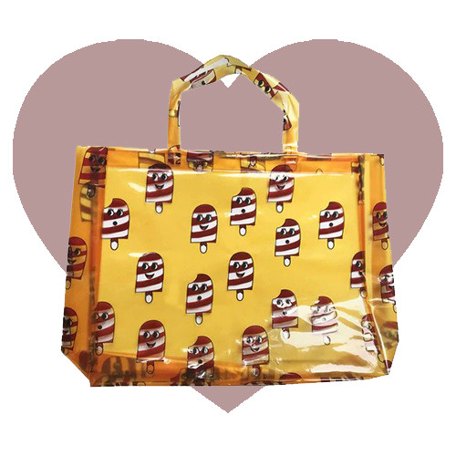 Beach Bag - Ice Cream-Yellow