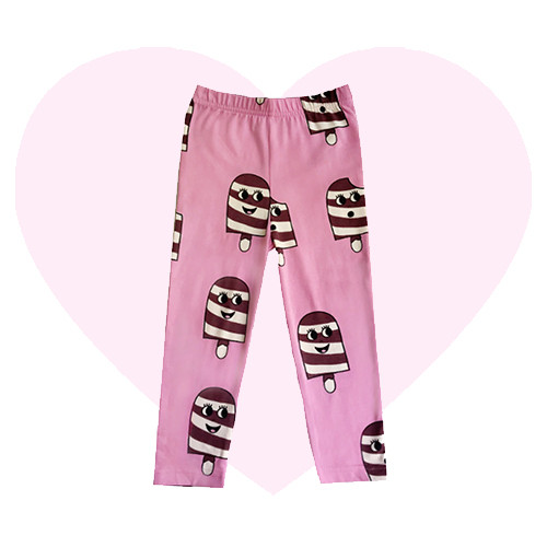 Leggings - Ice Cream-Pink