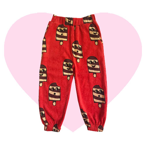 Terry 80's Sweatpants - Ice Cream-Red