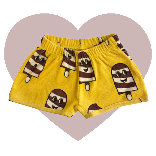 Terry Shorties - Ice Cream-Yellow