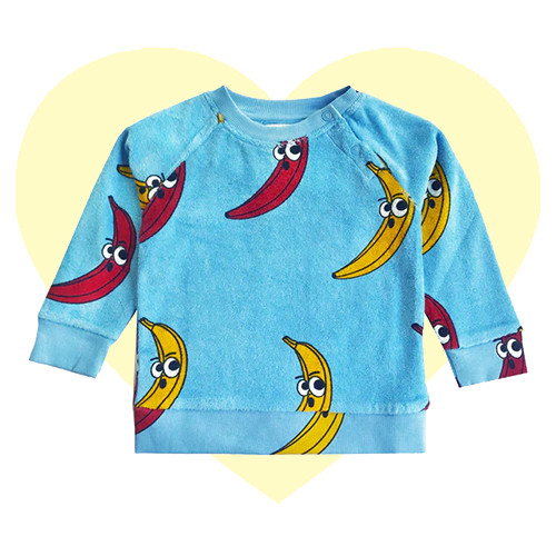 Terry Sweatshirt - Banana-Blue