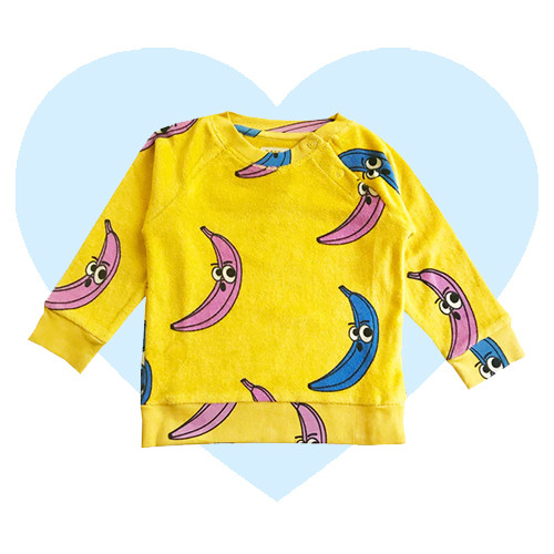 Terry Sweatshirt - Banana-Yellow