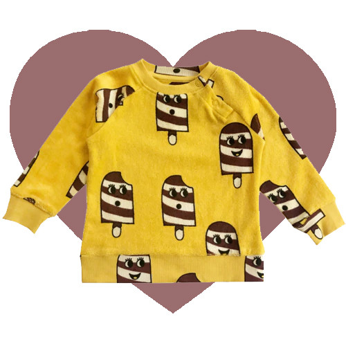 Terry Sweatshirt - Ice Cream-Yellow