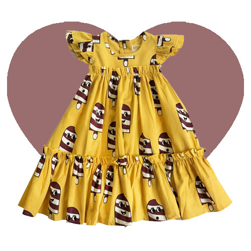 Woven Maxi Dress - Ice Cream-Yellow