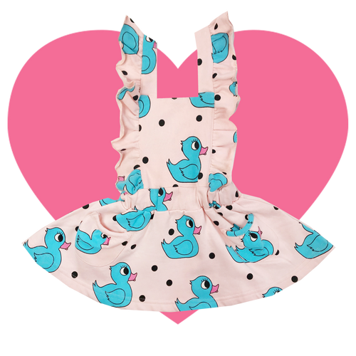 Hop Scotch Dress - Rubber Ducky-Pink