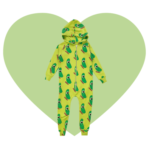Hooded Jumpsuit - Pickles-Green