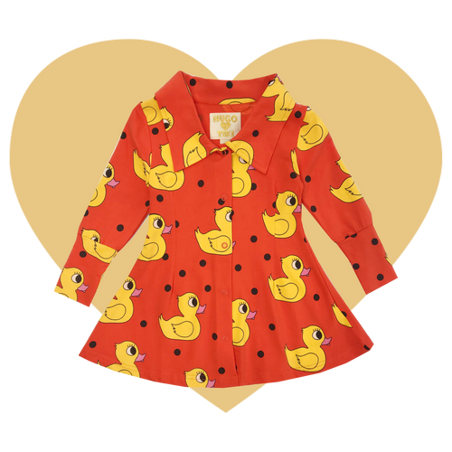 Mod Dress - Rubber Ducky-Orange