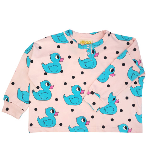Wide Henley - Rubber Ducky-Pink