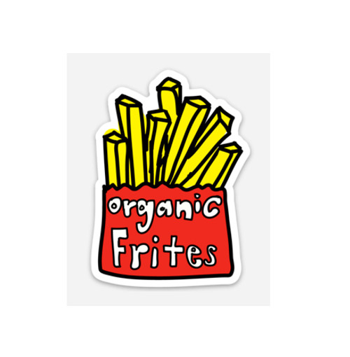 ORGANIC FRITES - Vinyl Sticker (weather proof)