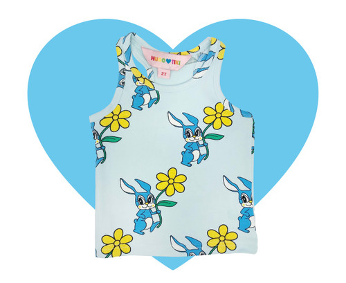 Tank Top - Bunnies-Blue