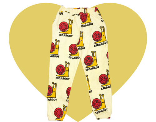 Terry 80's Sweatpants - Snails-Yellow
