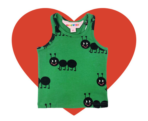 Tank Top - Ants-Green