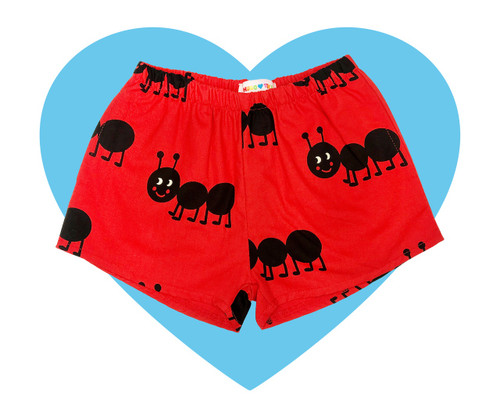 Woven Shorts - Ants-Red
