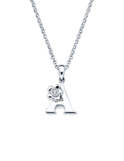 Initial Pendant Necklace - Letter A